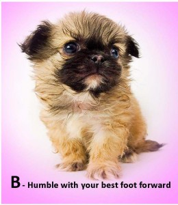 Humble with your best foot forward